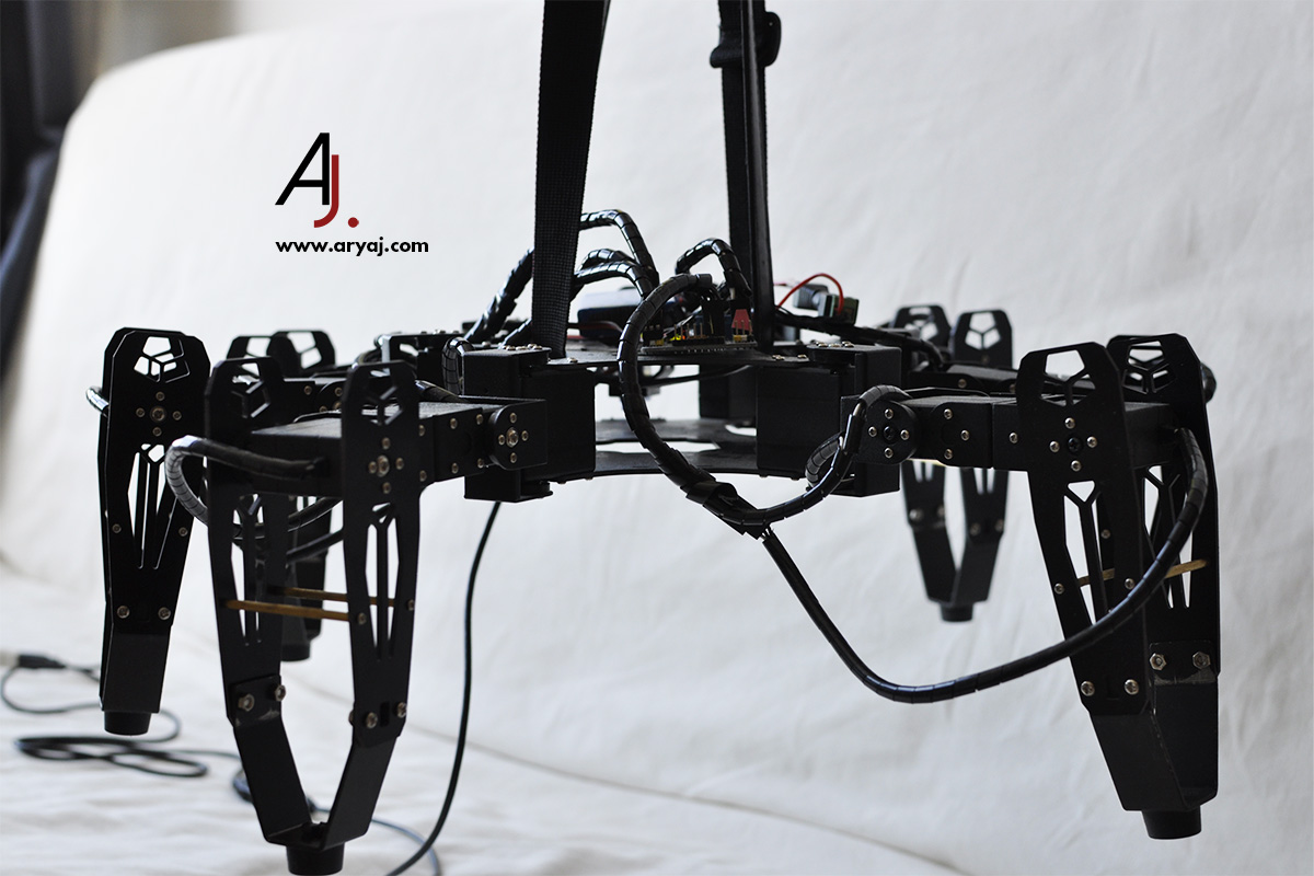 USO hexapod spider picture suspended